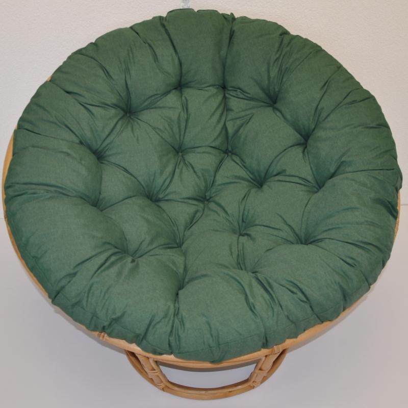 Polstr deluxe na křeslo papasan 100 cm - látka tmavě zelený melír