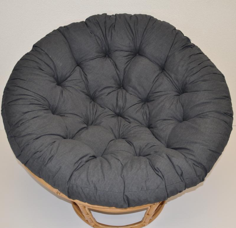 Polstr deluxe na křeslo papasan 100 cm - látka tmavě šedý melír