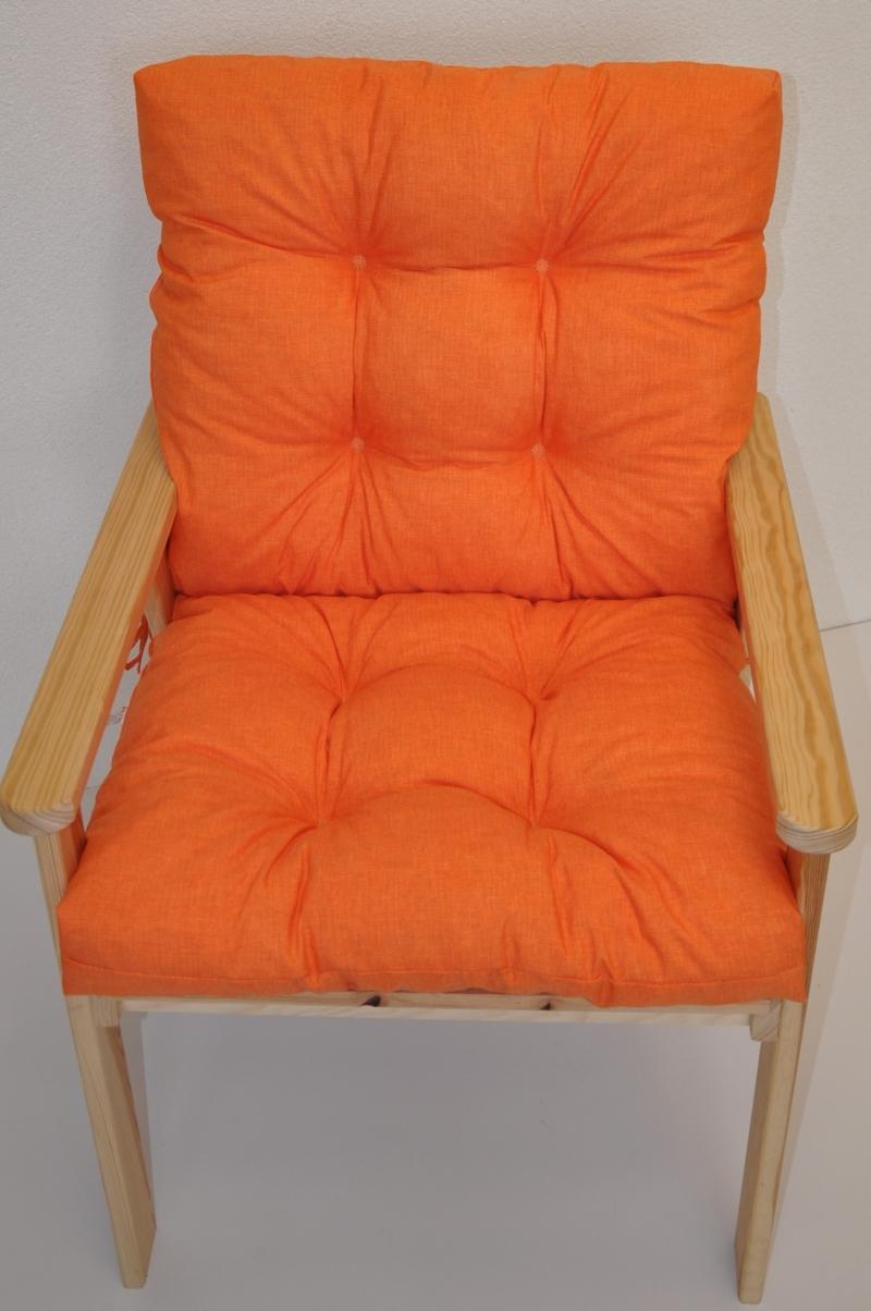 Polstr na křeslo Nordic - látka oranžový melír
