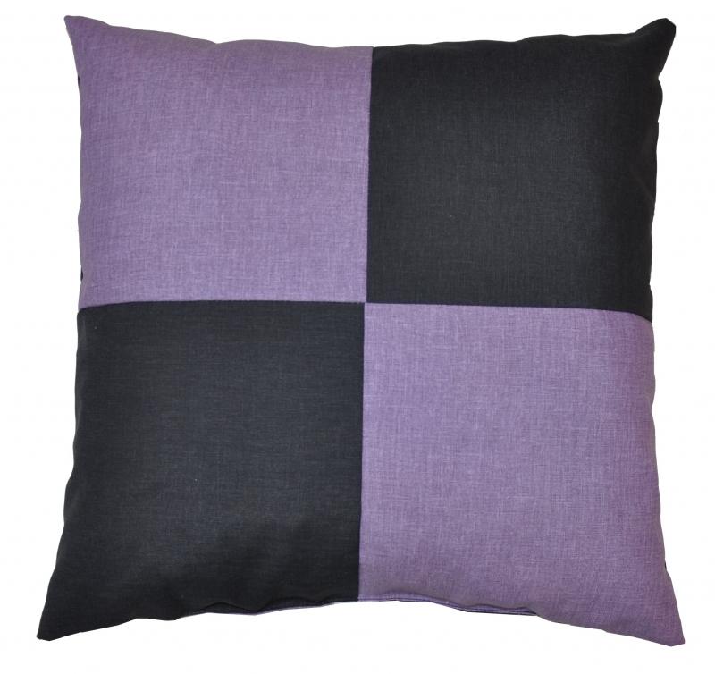 Veselý polštářek - fialová/tmavě šedá