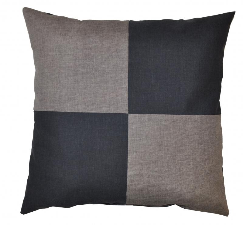 Veselý polštářek - šedá/tmavě šedá