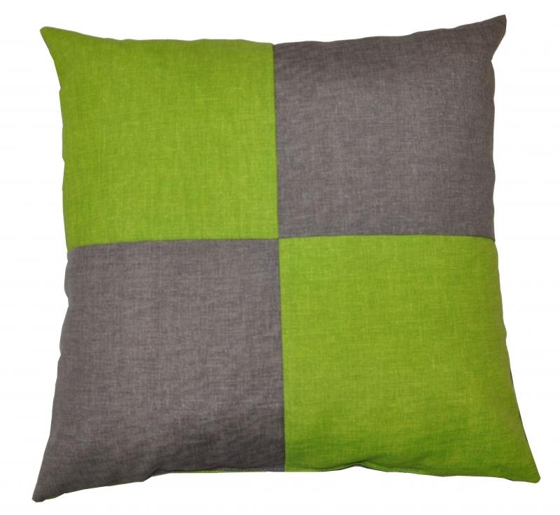 Veselý polštářek - šedá/světle zelená