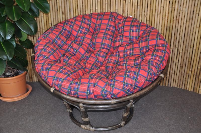 Polstr na křeslo papasan 110 cm červený CZ