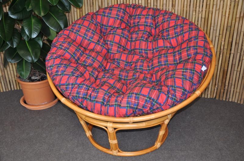 Polstr na křeslo papasan 100 cm červený