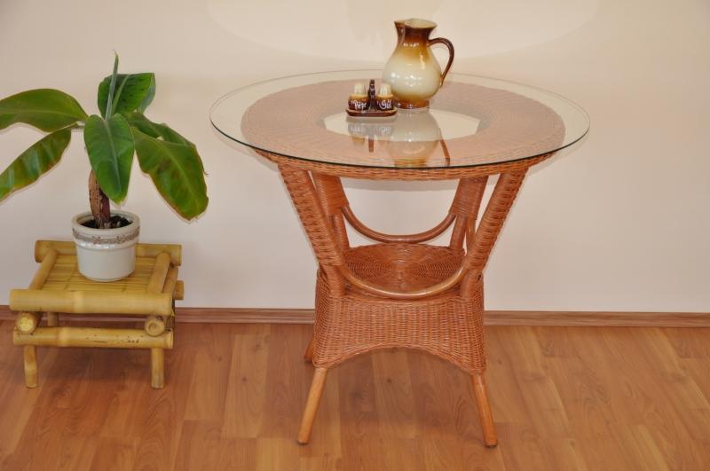 Ratanový stůl jídelní Phuket cognac