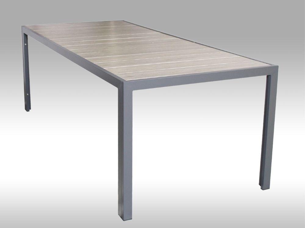 Hliníkový zahradní stůl Bergamo 217cm x 95cm, šedý, pro 8 osob