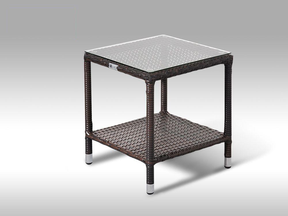 Umělý ratan - stůl Marco hnědý
