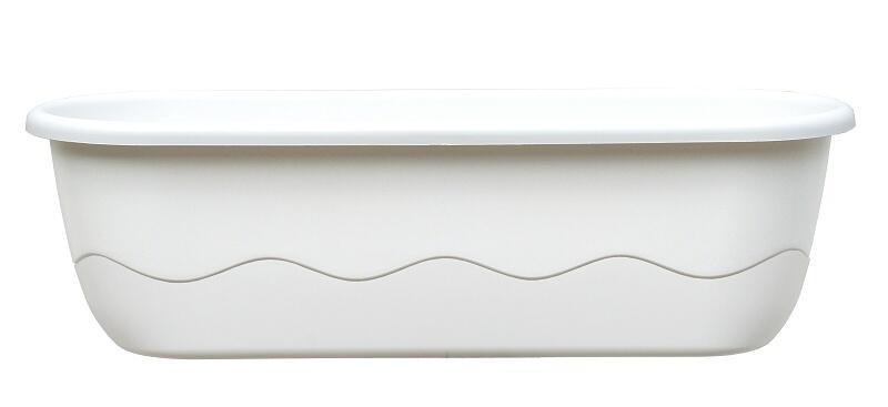Samozavlažovací truhlík Mareta 60cm bílá