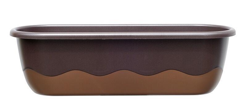 Samozavlažovací truhlík Mareta 60cm čoko/bronz