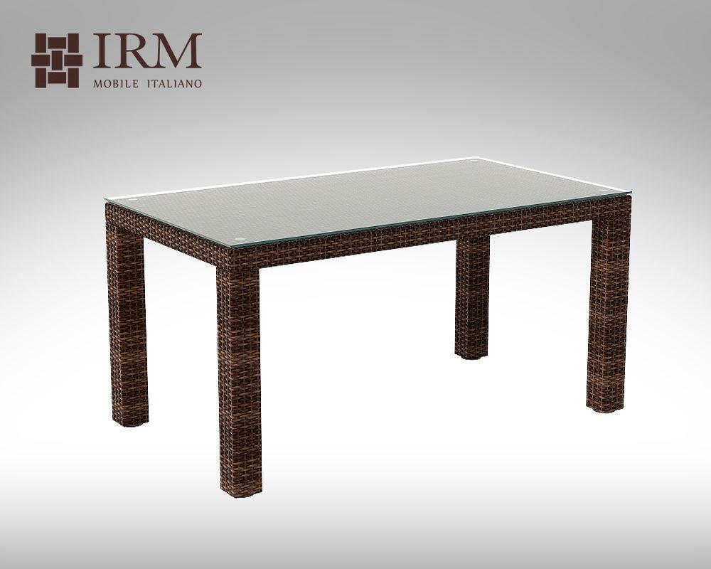 Umělý ratan - stůl Orso 160x90