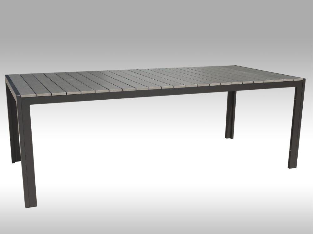 Hliníkový zahradní stůl Jersey 220cm x 100cm, šedý, pro 8 osob